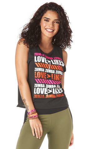 Love Over Likes Open Back Tank