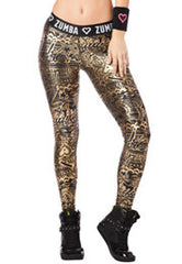 Zumba Has My Heart Metallic Legging