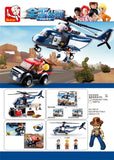 Police Helicopter and Truck B0656