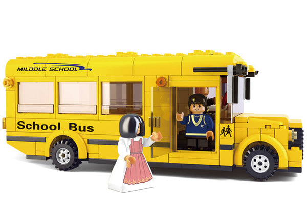 School Bus and School House