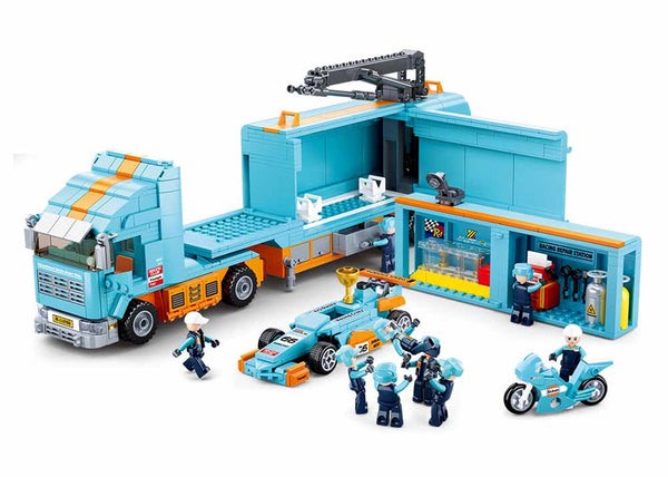 F1 Mobile Racing Team Truck and Team -1044 Pieces - M38-B0766