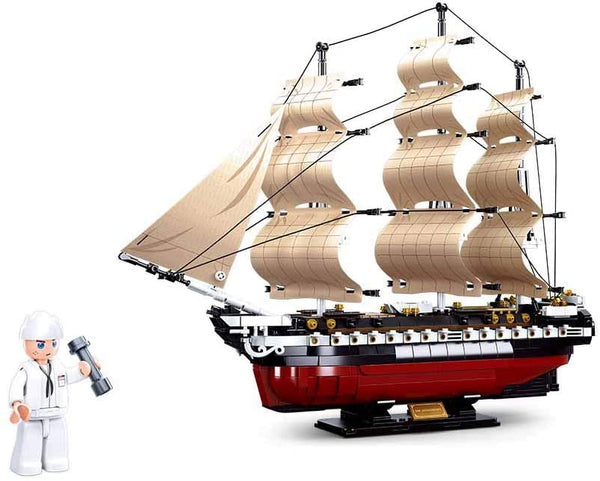 USS Constitution 1794 Navy Frigate Sailing Ship - (36 cm / 14.7 Inch Long )  - 1118 PCS - M38-B0836