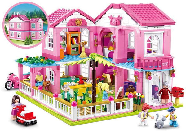 Girl's Dream Large Mansion house - 896 Pieces - M38-B0721