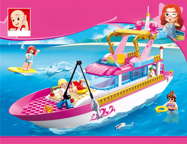 Girl's Dream Luxury Yacht Power Boat  - 212 Pieces - M38-B0722