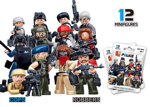 Cops and Robbers mini figure - 1 blister pack-M38-B0583