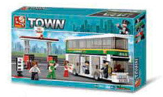 Double Decker Bus and Gas Station M38-B0331