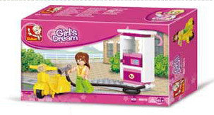 Girl's Dream Gas Station (Small Set) M38-B0518