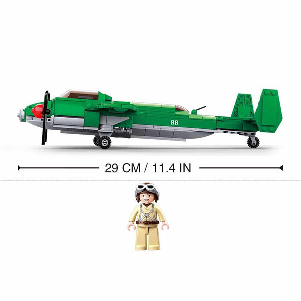 Sluban WW2 Tupolev TU-2 Bomber Airplane - 311 Pieces - M38-B0688