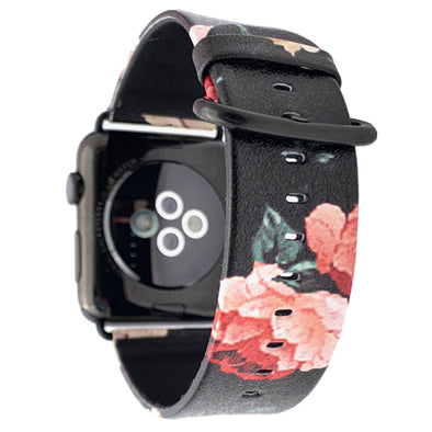 40mm & 38mm Vegan Leather Apple Watch Band - Dark Rose - Elemental Cases