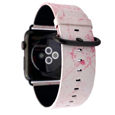40mm & 38mm Vegan Leather Apple Watch Band - Dusty Pink - Elemental Cases