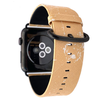 40mm & 38mm Vegan Leather Apple Watch Band - Mimosa - Elemental Cases