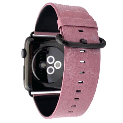 44mm & 42mm Vegan Leather Apple Watch Band - Blush - Elemental Cases
