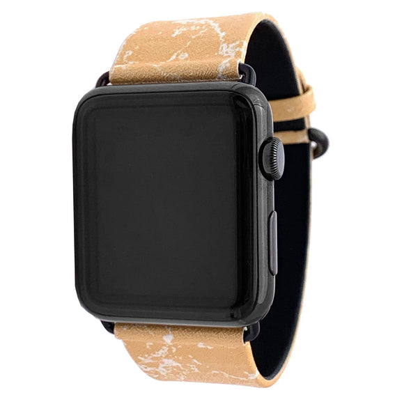 44mm & 42mm Vegan Leather Apple Watch Band - Mimosa - Elemental Cases