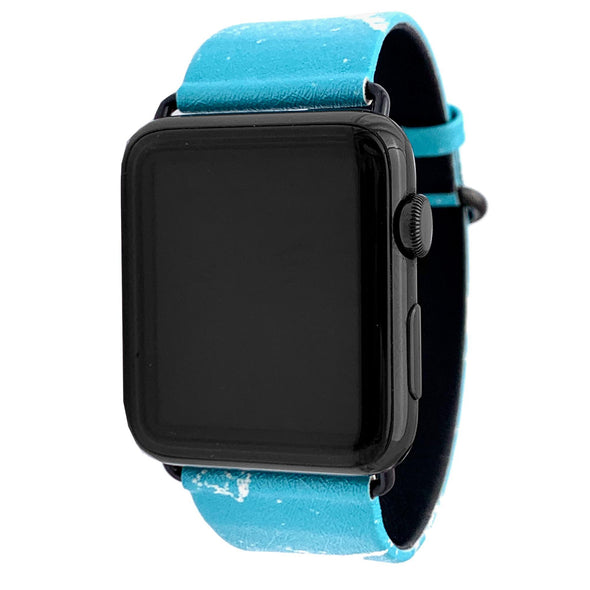 44mm & 42mm Vegan Leather Apple Watch Band - Tiffany - Elemental Cases