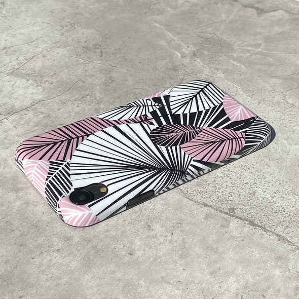iPhone XR Case - Blush Palm