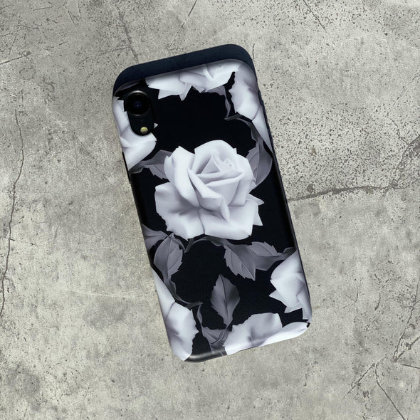 iPhone XS Max Case - White Rose