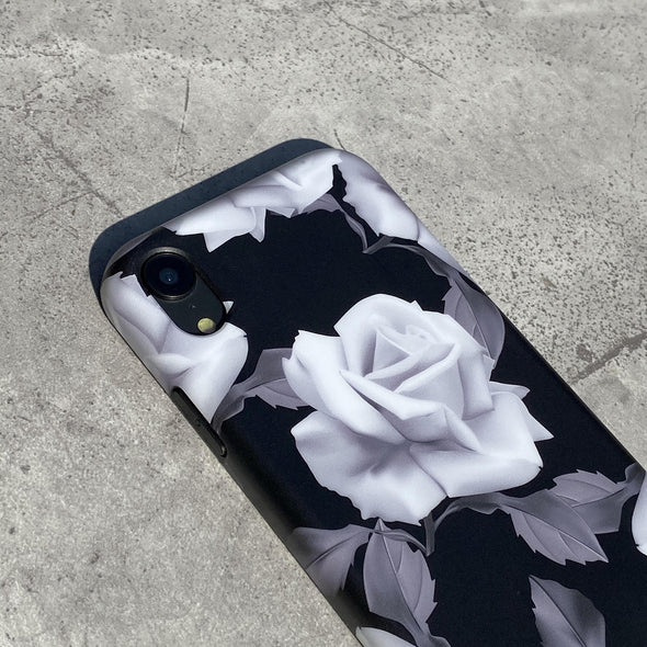 iPhone XS / X Case - White Rose
