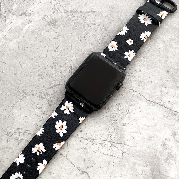 40mm & 38mm Vegan Leather Apple Watch Band - Daisy