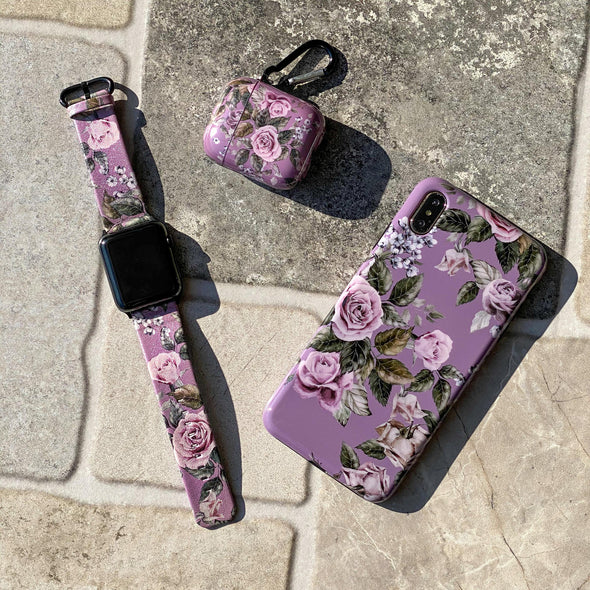 40mm & 38mm Vegan Leather Apple Watch Band - Faded Rose