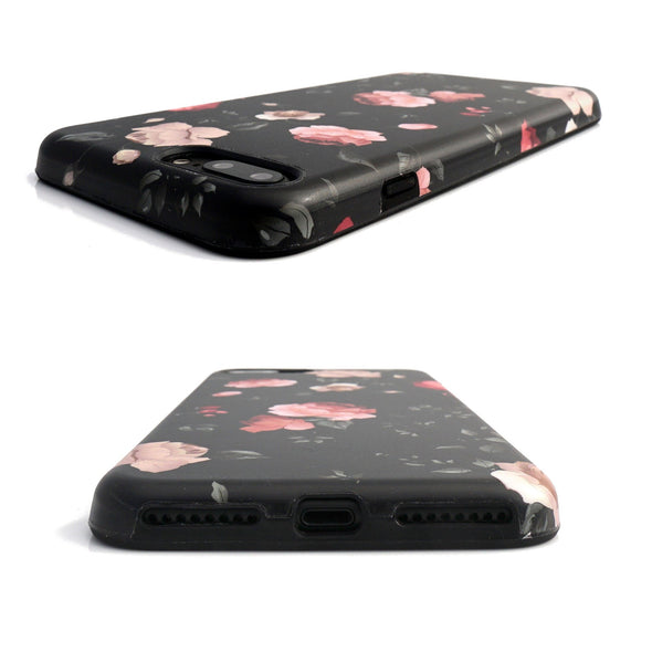 Floral Case for iPhone 8 Plus / 7 Plus - Dark Rose - Elemental Cases