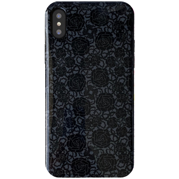 iPhone XS Max Case - Goth Rose