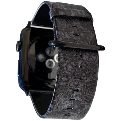 40mm & 38mm Vegan Leather Apple Watch Band - Goth Rose