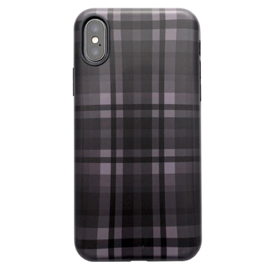 iPhone XS / X Case - Black Plaid - Elemental Cases