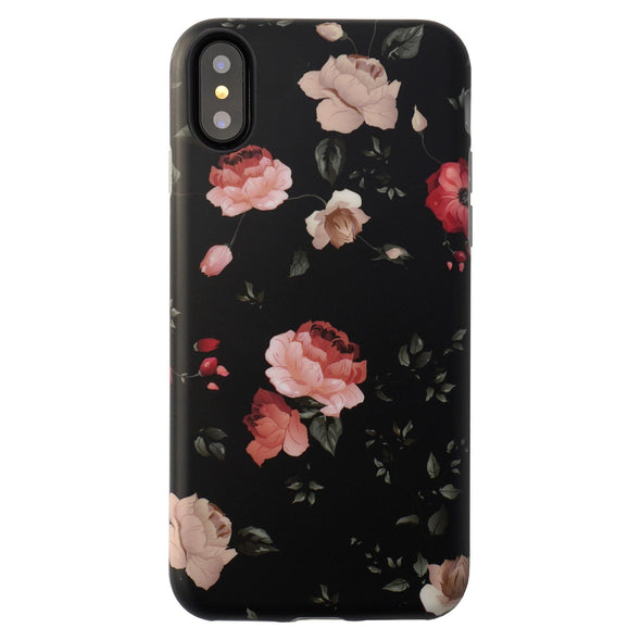 iPhone XS / X Case Floral - Dark Rose - Elemental Cases