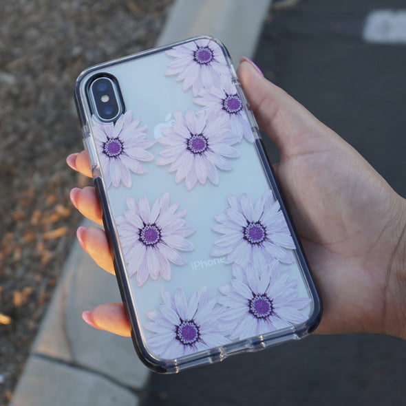 iPhone XS / X Case - Purple Daisy - Elemental Cases