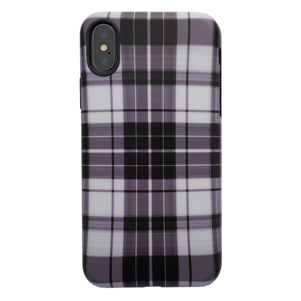 iPhone XS / X Case - White Plaid - Elemental Cases
