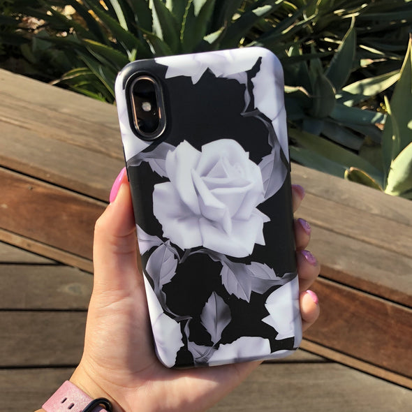 iPhone XS / X Case - White Rose - Elemental Cases