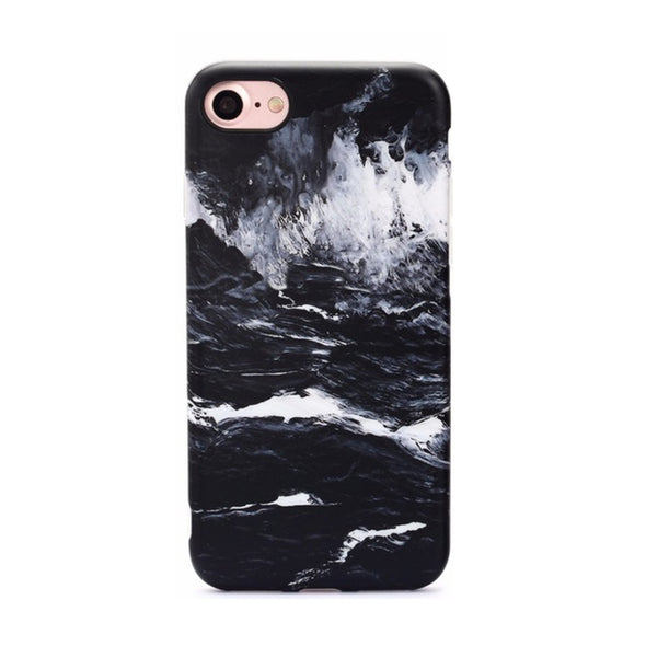 Marble Case for iPhone 8 / 7 - Black - Elemental Cases