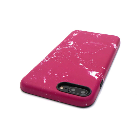 Marble Case for iPhone 8 Plus / 7 Plus - Raspberry - Elemental Cases