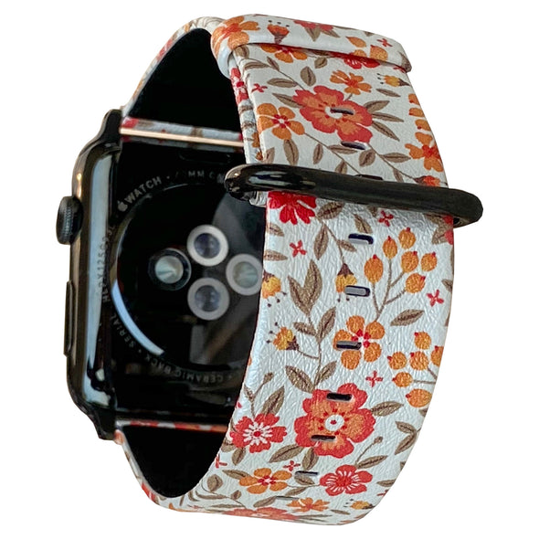 40mm & 38mm Vegan Leather Apple Watch Band - Marigold