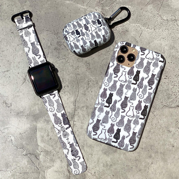 40mm & 38mm Vegan Leather Apple Watch Band - Meow
