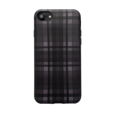 Plaid Case for iPhone 8 / 7 Black