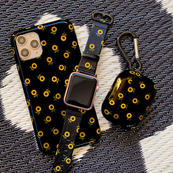 40mm & 38mm Vegan Leather Apple Watch Band - Sunflower