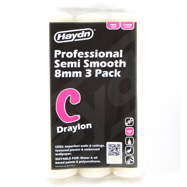 Haydn Paint Roller Sleeve Semi Smooth 270mm 8mm Nap Best