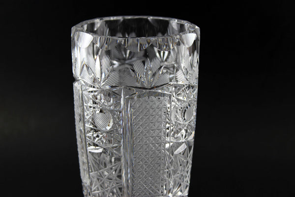American Brilliant Period Glass Vase