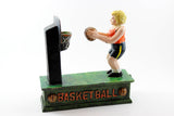 Cast-Iron Mechanical Basketball Bank