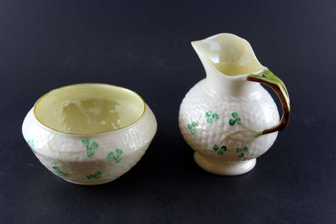 Belleek China Cream & Sugar