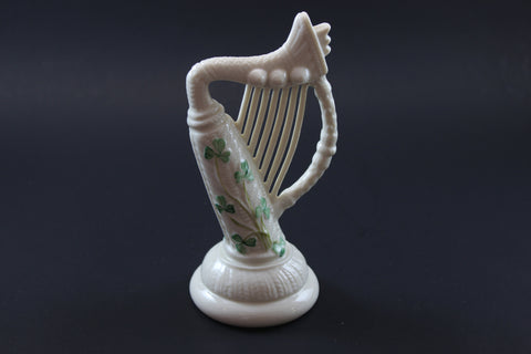 belleek shamrock harp made in ireland fine parian china