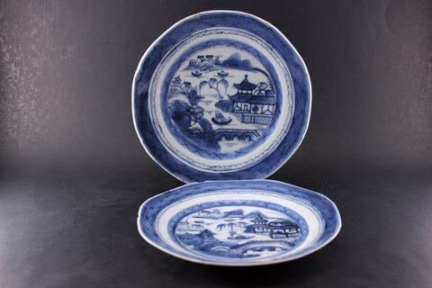 Chinese Export Canton Antique Plates (2) & Bone China Porcelain \u0026 Ironstone \u2013 With A Past