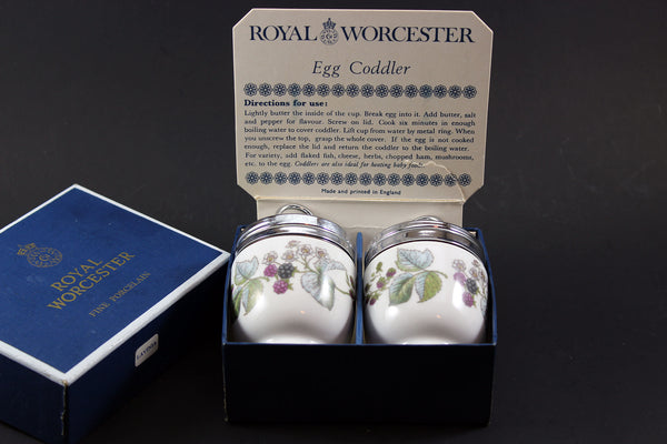 Royal Worcester - Lavinia Pattern Egg Coddlers (2)