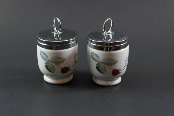 Royal Worcester Strawberry Fair Egg Coddlers