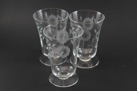 Cornflower Crystal Parfait Glasses Non-Optic