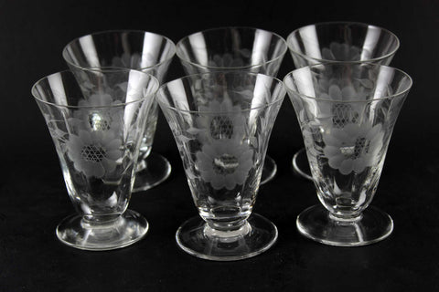 Hughes Corn Flower Juice Glasses