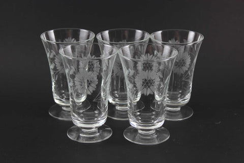 Hughes Cornflower Crystal Juice Glasses