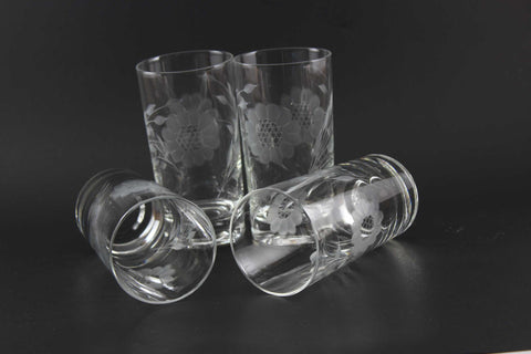 Hughes Cornflower Crystal Tall 7 oz Tumblers