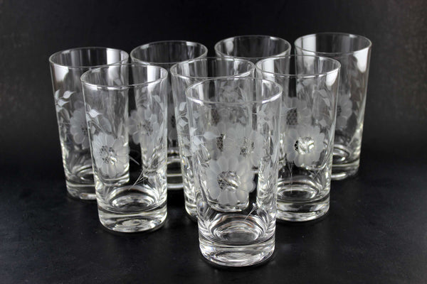Hughes Corn Flower Crystal Tall Tumblers